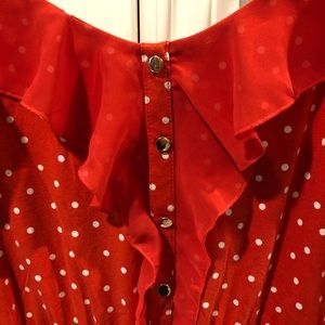 Elle Dresses - Retro Red Polka Dot Dress